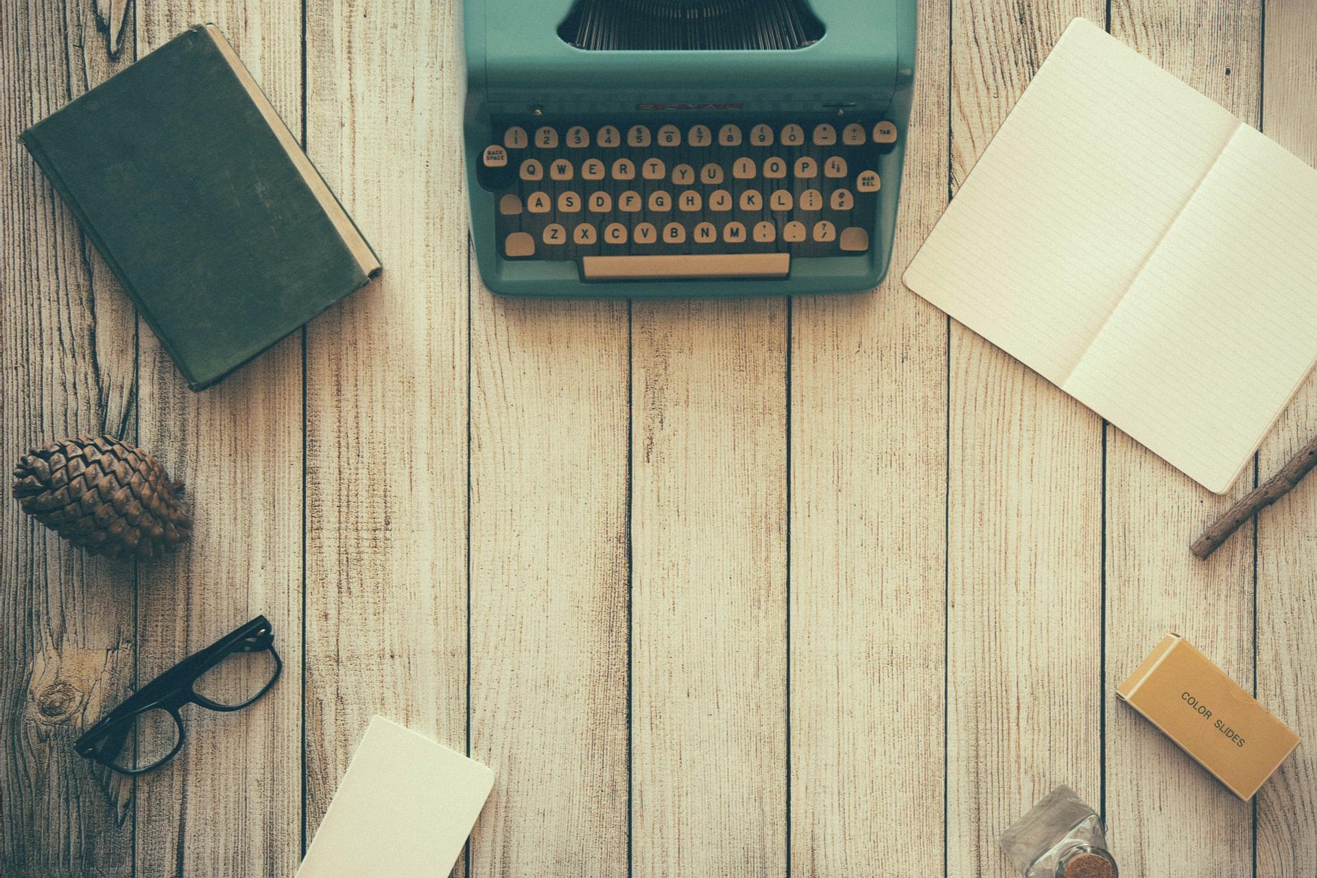 Eine Schreibmaschine