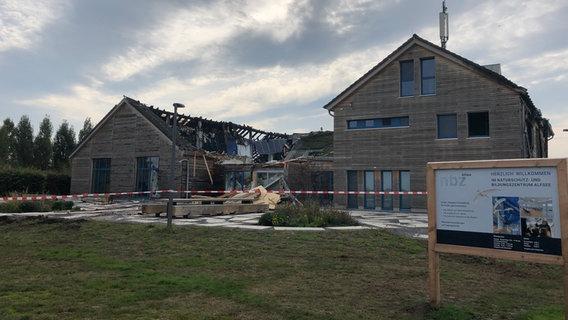 Feuer zerstört Naturschutzmuseum am Alfsee